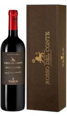 """Вино Tasca d'Almerita, """"Rosso del Conte"""" DOC, 2015, gift box, 0.75 л"""