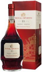 "Портвейн ""Royal Oporto"" 10 Year Old Tawny Porto, Douro DOC, gift box, 0.75 л"