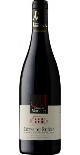 Вино Chateau de Marjolet, Cotes du Rhone AOC Rouge, 2018, 0.75 л