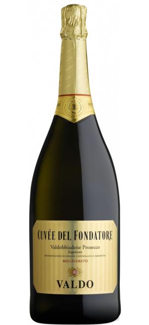 Игристое вино Valdo, Cuvee del Fondatore, Prosecco di Valdobbiadene DOCG, 2018, 1.5 л