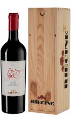 "Вино Riecine, ""La Gioia"", Toscana IGT, 2015, wooden box, 0.75 л"