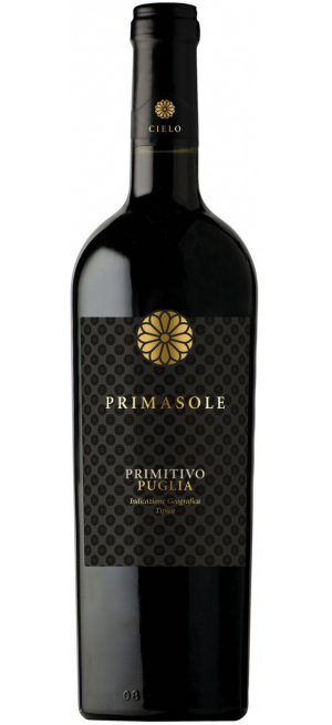 "Вино Cielo e Terra, ""Primasole"" Primitivo, Puglia IGT, 2018, 0.75 л"
