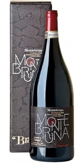 "Вино ""Montebruna"" Barbera d'Asti DOCG, 2017, gift box, 1.5 л"