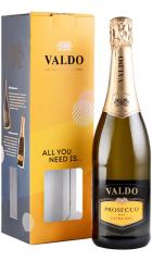 Игристое вино Valdo, Prosecco DOC, gift box, 0.75 л