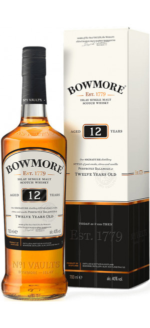 Виски Bowmore 12 Years Old, in gift box, 0.7 л
