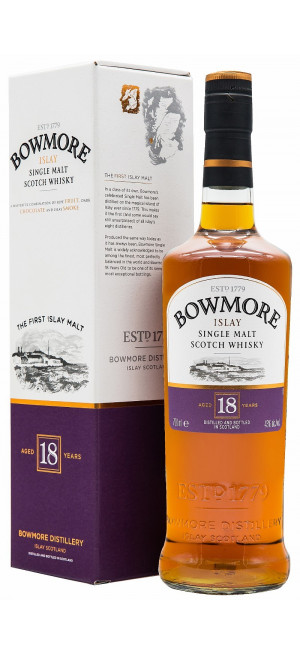 Виски Bowmore 18 Years Old, gift box, 0.7 л