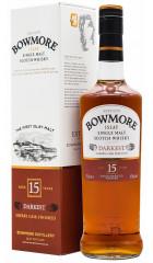 Виски Bowmore Darkest 15 years old, gift box, 0.7 л