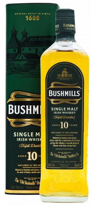 Виски Bushmills Malt 10 Years Old, with box, 0.7 л