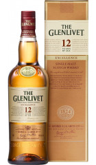 Виски The Glenlivet 12 Years Old Excellence, gift box, 0.7 л