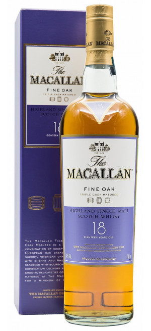 "Виски Macallan ""Fine Oak"" 18 Years Old, gift box, 0.7 л"