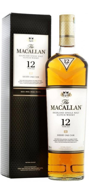 Виски Macallan Sherry Oak 12 Years Old, with box, 0.7 л