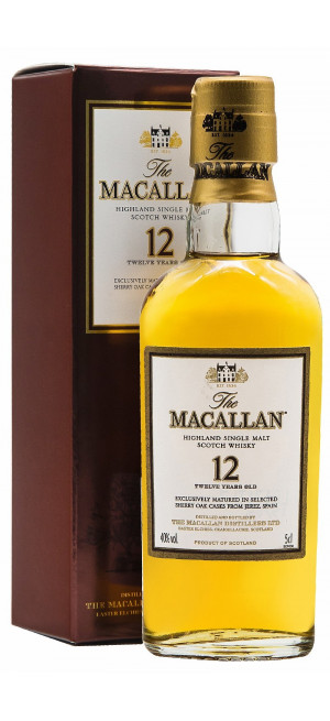 Виски Macallan Sherry Oak 12 Years Old, with box, 50 мл