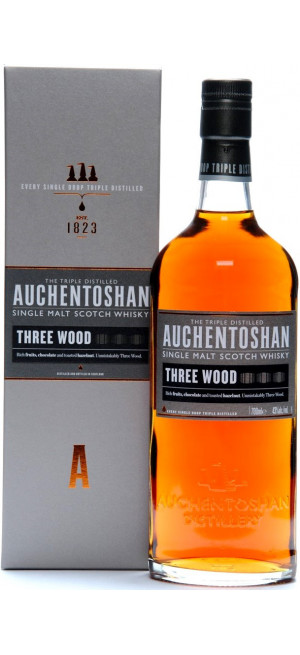 Виски Auchentoshan, Three Wood, gift box, 0.7 л