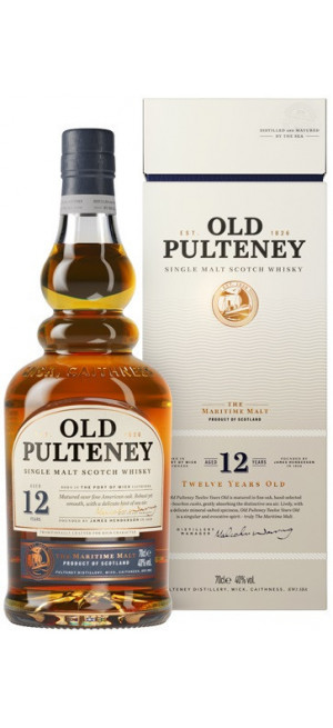 Виски Old Pulteney 12 years old, in tube, 0.7 л