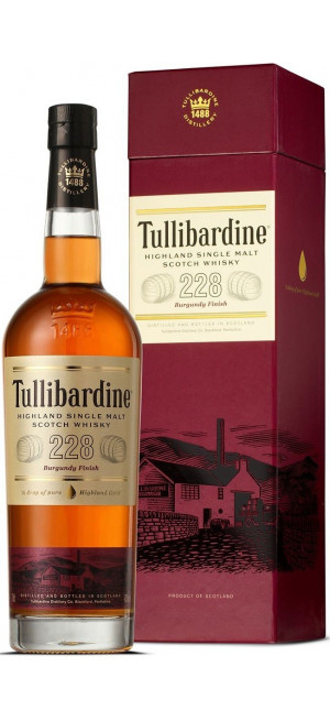 Виски Tullibardine, 228 Burgundy Finish, gift box, 0.7 л