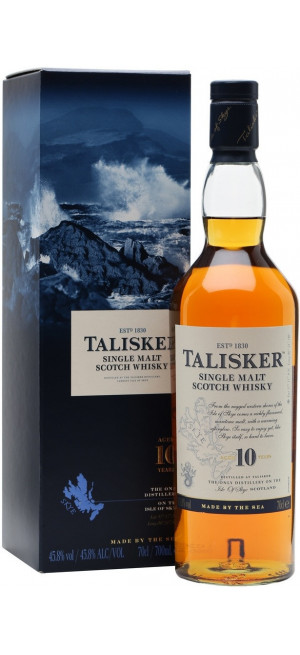 Виски Talisker malt 10 years old, with box, 0.75 л