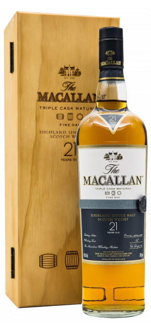 Виски Macallan Fine Oak 21 Years Old, with box, 0.7 л