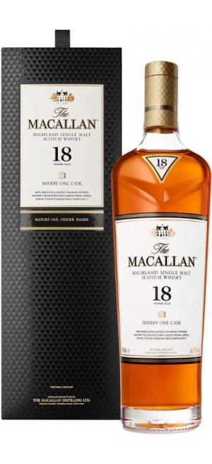 "Виски Macallan ""Sherry Oak"" 18 Years Old, gift box, 0.7 л"