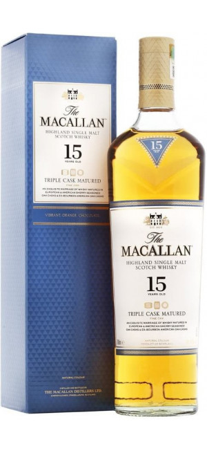 "Виски Macallan, ""Triple Cask Matured"" 15 Years Old, gift box, 0.7 л"