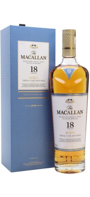 """Виски Macallan, """"Triple Cask Matured"""" 18 Years Old, gift box, 0.7 л"""