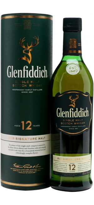 "Виски ""Glenfiddich"" 12 Years Old, in tube, 0.75 л"