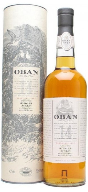 "Виски ""Oban"" malt 14 years old, with box, 0.7 л"
