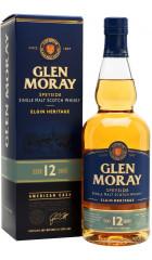 Виски Glen Moray 12 years, gift box, 0.7 л