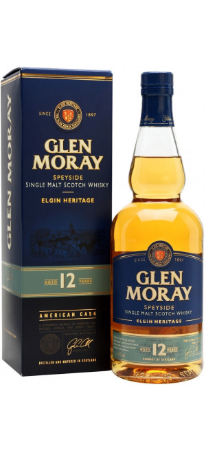 Виски Glen Moray 12 years, gift box, 0.7 л