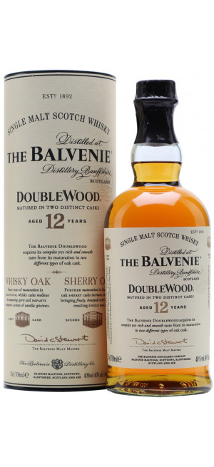 "Виски ""Balvenie"" Doublewood 12 Years Old, gift tube, 0.7 л"