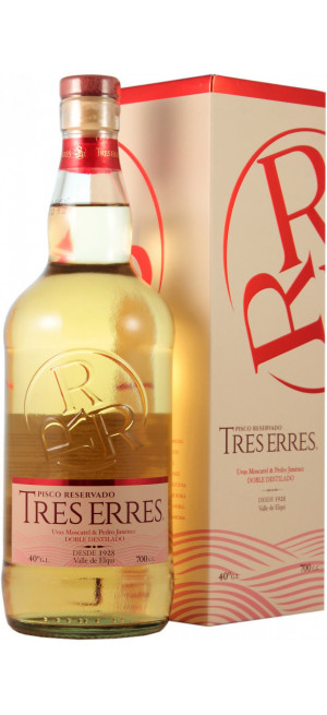 """Водка Pisco """"Tres Erres"""" Reservado, gift box, 0.7 л"""