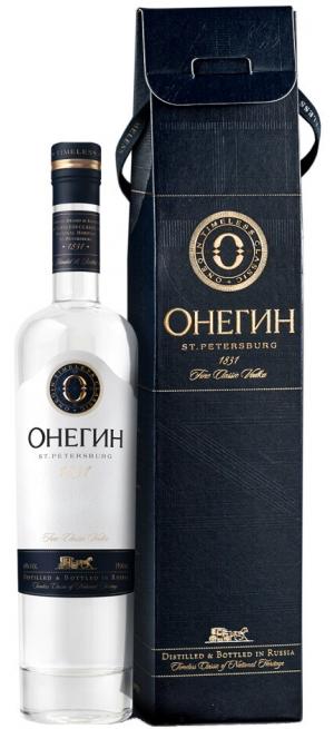 """Водка """"Онегин"""", в подарочной коробке, 0.5 л"""