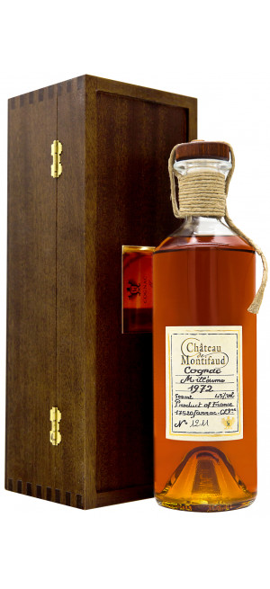 "Коньяк ""Chateau de Montifaud"" Millesime 1972, Fine Petite Champagne AOC, wooden box, 0.5 л"