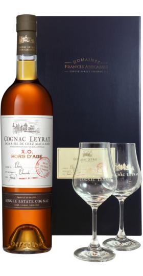 """Набор """"Leyrat"""" XO Hors d'Age, gift set with 2 glasses"""