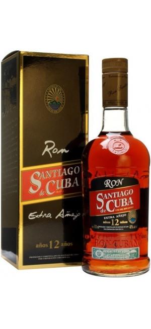 """Ром Santiago de Cuba, """"Extra Anejo"""", 12 years old, gift box, 0.7 л"""
