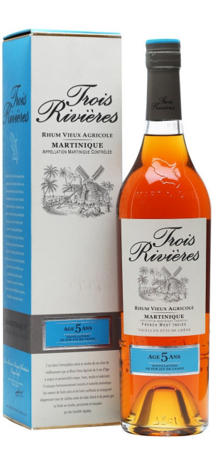 "Ром ""Trois Rivieres"" 5 Years Old, Martinique AOC, gift box, 0.7 л"