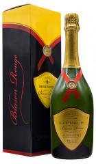 """Игристое вино Sieur d'Arques, """"Blason Rouge"""" Cremant Brut, Limoux AOC, gift box"""