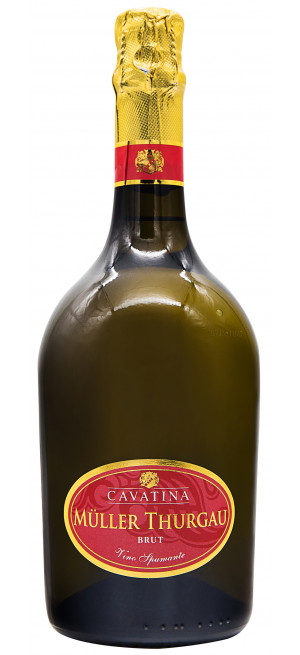 "Игристое вино ""Cavatina"" Muller Thurgau Brut, bottle ""Atmosphere"""