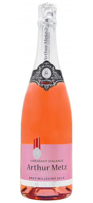 Игристое вино Cremant d'Alsace Brut Rose, Arthur Metz, 0.75 л
