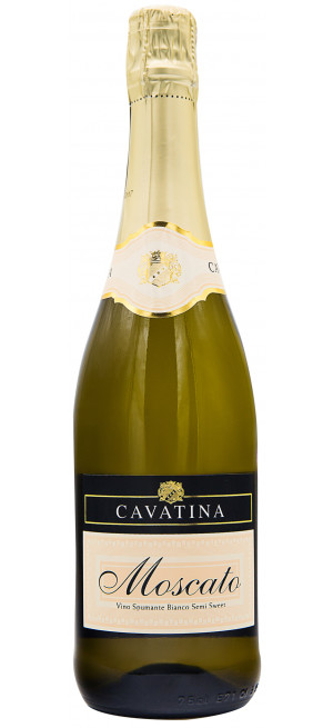 "Игристое вино ""Cavatina"" Moscato Spumante Semi-Sweet"