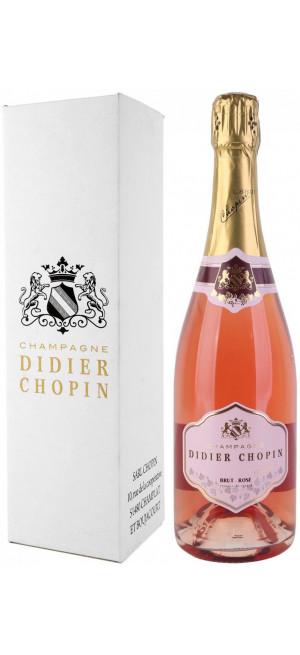 Шампанское Didier Chopin, Brut Rose, Champagne AOC, gift box, 0.75 л