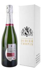 "Шампанское Didier Chopin, ""Cuvee d'Exception"" Brut, Champagne AOC, gift box, 0.75 л"