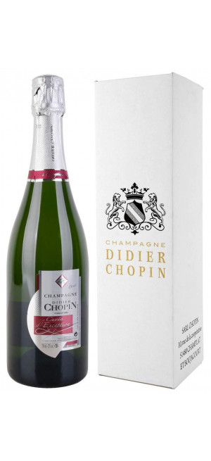 "Шампанское Didier Chopin, ""Cuvee d'Exception"" Brut, Champagne AOC, gift box, 0.75 л"