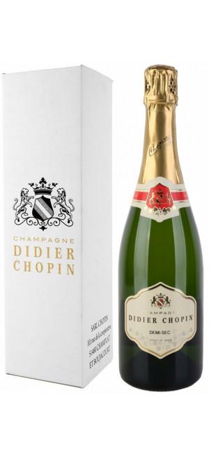 Шампанское Didier Chopin, Demi-Sec, Champagne AOC, gift box, 0.75 л