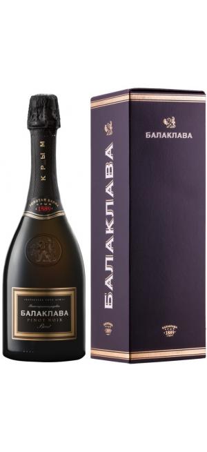 """Игристое вино """"Балаклава"""" Пино Нуар Брют Розе, в подарочной коробке, 0.75 л"""