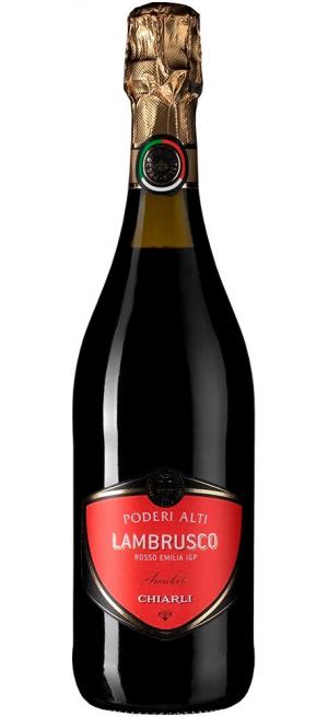 Игристое вино Lambrusco dell'Emilia Rosso Poderi Alti IGT, 0.75 л