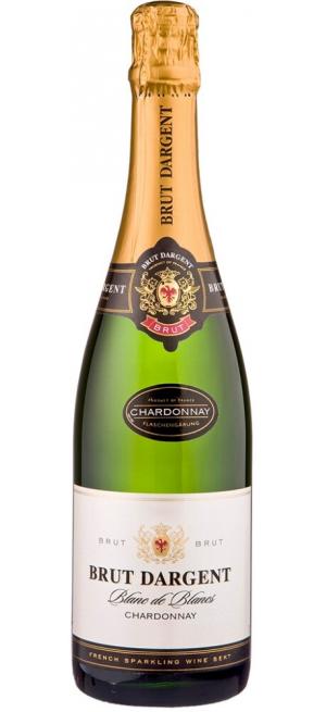 """Игристое вино """"Brut Dargent"""" Blanc de Blanc Chardonnay, 2014, 0.75 л"""