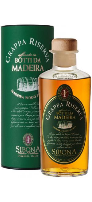 Граппа Sibona, Grappa Riserva Madeira Wood Finish, in tube, 0.5л