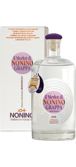 """Граппа """"Il Merlot di Nonino"""" Monovitigno, gift box, 100 мл"""