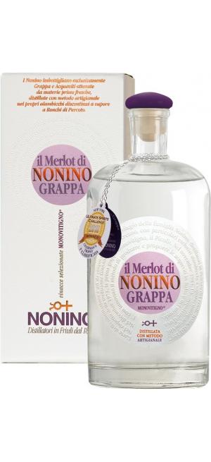 """Граппа """"Il Merlot di Nonino"""" Monovitigno, gift box, 0.7 л"""