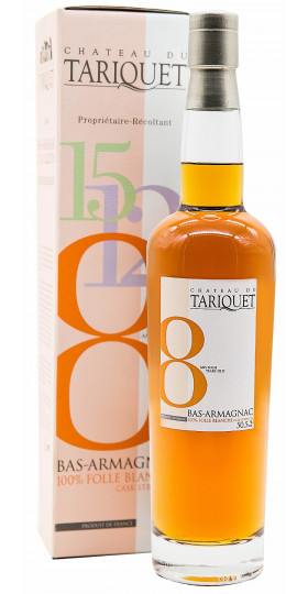 "Арманьяк Chateau du Tariquet ""Folle Blanche"" 8 years, Bas-Armagnac AOC, gift box, 0.7 л"